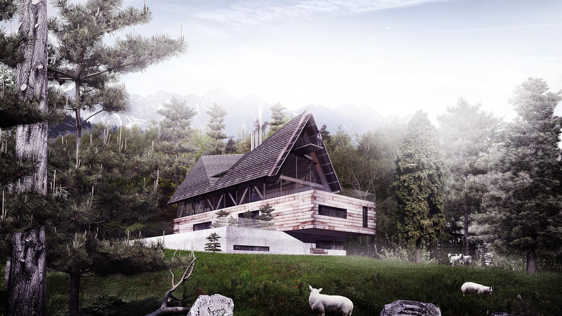 Walorem budynku jest jego funkcjonalna oraz przestrzenno-formalna różnorodność oparta na grze linearnych kontrastów. Fot. BXB Studio