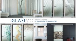 Kolekcja szkieł Glasimo, unikatowych wzorów tafli drzwiowych wykonanych w technologii bezpośredniego druku farbami ceramicznymi na szkle.
