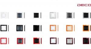 Ramka uniwersalna pojedyncza z serii Deco z efektem szkła to świetne uzupełnienie nowoczesnych wnętrz.