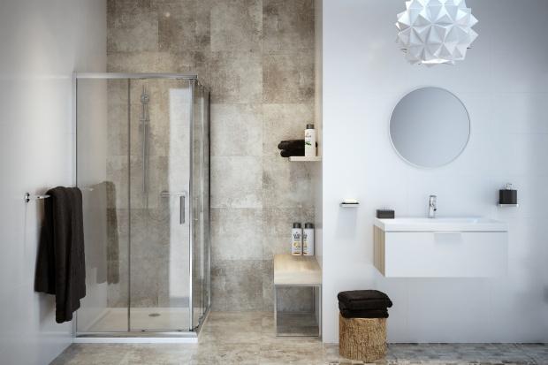 Modna łazienka: płytki jak patchwork w różnych stylach