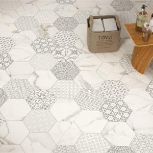 Jak kawałki tkaniny zszyte z marmurem - płytki ceramiczne Infitity firmy Fondovalle. Fot. Fondovalle.