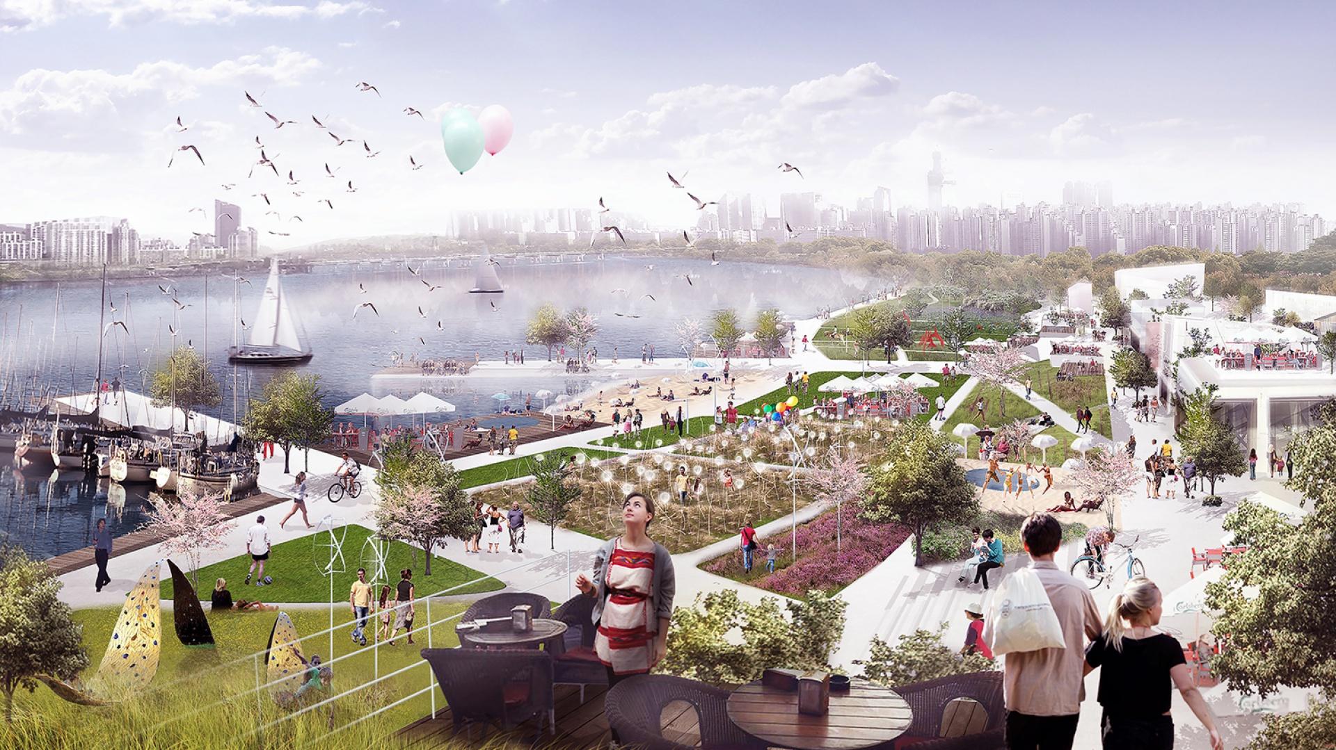 Założenie przewiduje opracowanie sześciu głównych obiektów – ikon: modernizację dwóch stadionów, utworzenie centrum EXPO, krytego basenu oraz centrum sportowo-rekreacyjnego. Fot. BXBstudio