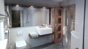 wizualizacja łazienki na parterze