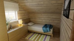 jedna z sypialni na piętrze