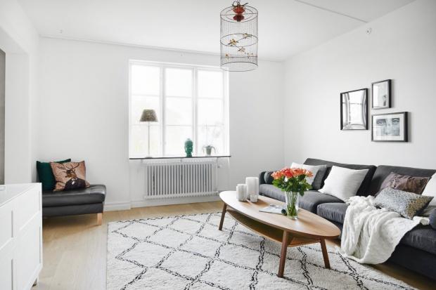 Eleganckie mieszkanie w skandynawskim stylu