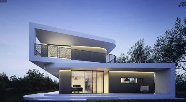 Dom Trapez czyli architektoniczna zabawa bryłą