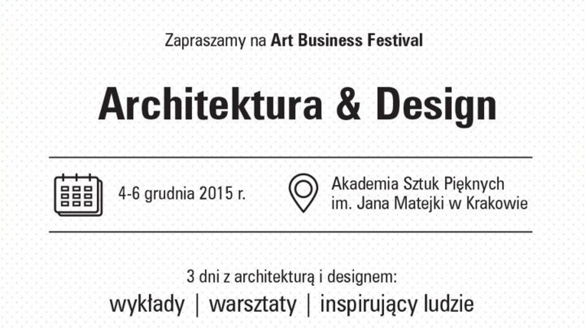 Art Business Festival. Fot. Plakat prasowy
