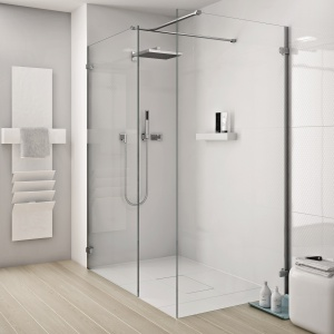 Każdą ściankę (wymiary od 50 do 120 cm), drzwi oraz łączące je wsporniki można kupić jako indywidualny zestaw – kabina Next marki Koło. Fot. Koło.