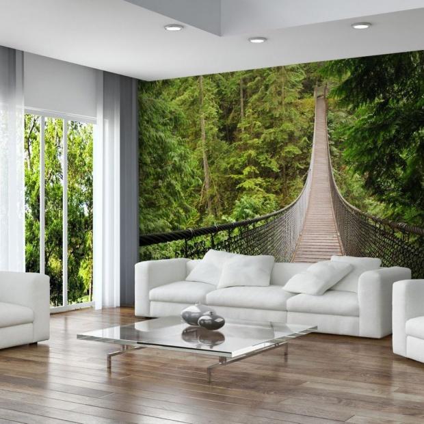 Modny salon. Fototapeta z motywem natury
