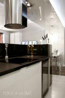PROJEKTOWANIE WNĘTRZ SOSNOWIEC, czarny blat, blat granitowy, granit satynowy w kuchni,