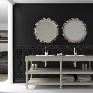 Biel i czerń ze strukturą wzorów kwiatowych - płytki ceramiczne Lyric firmy Aparici. Fot. Aparici.