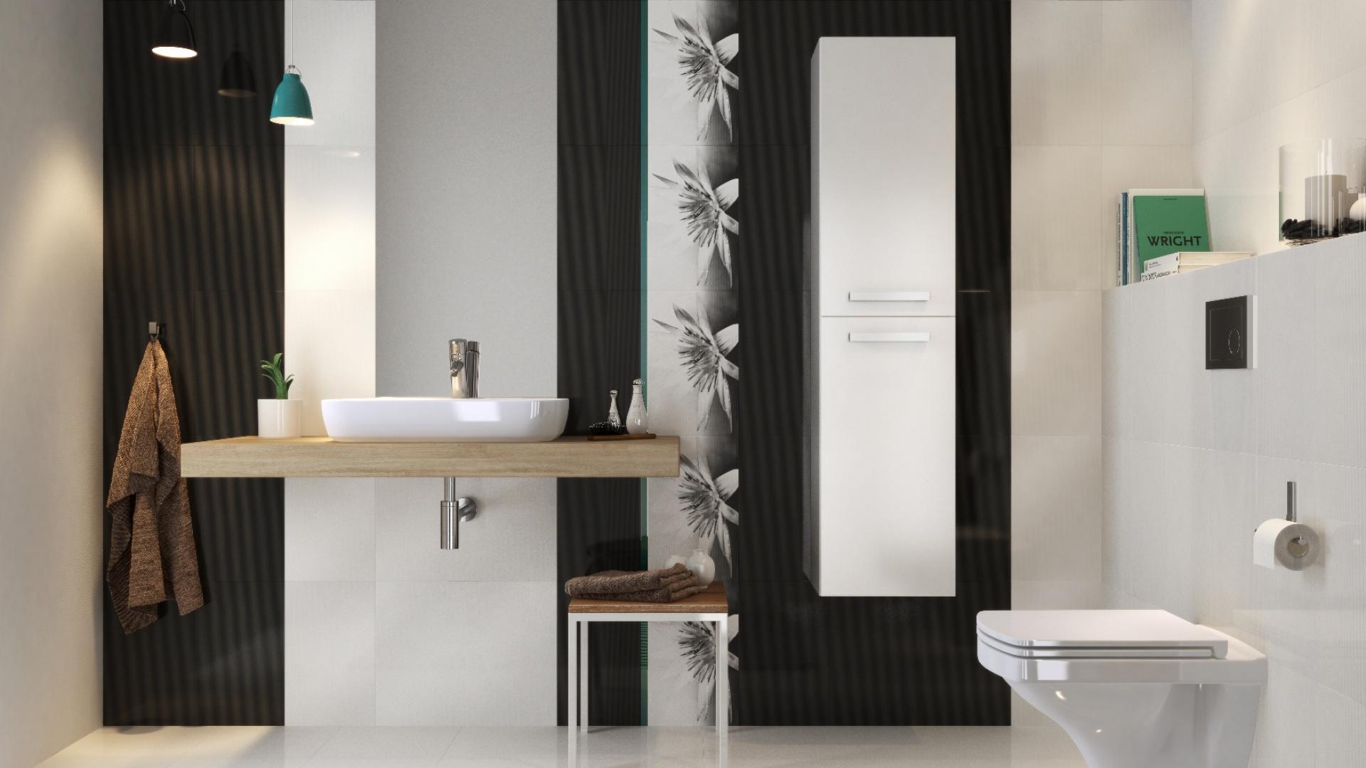 Biało-czarna łazienka. 15 najpiękniejszych płytek ceramicznych - Galeria - Dobrzemieszkaj.pl