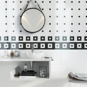 Elegancka i prosta biało-czarna kompozycja – dekoracje ze szkła Glass marki Opoczno. Fot. Opoczno.