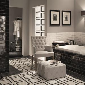 Biel i czerń na formatach jak cegły - płytki ceramiczne Monaco w kreacji Macieja Zienia dla firmy Tubądzin. Fot. Tubądzin.