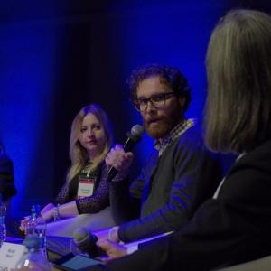 Michał Woch opowiadał m.in. o wystawach i targach, w których warto promować swoją markę. Fot. Piotr Waniorek.