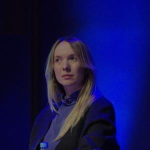 Marta Niemywska-Grynasz, projektantka, współpracowała m.in. z MUJI, NAP, Instytutem Wzornictwa Przemysłowego, Polską Akcją Humanitarną, Narodowym Instytutem Audiowizualnym, Uniwersytetem Dziecięcym. Fot. Piotr Waniorek.