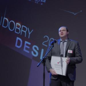 Wyróżnienie w kategorii wnętrza i obiekty publiczne - dyplom odebrał Piotr Chajęcki, External Sales/Projects. Fot. Piotr Waniorek.