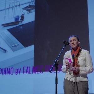 Nagrodę w kategorii AGD odebrała Iwona Osowska, przedstawiciel firmy Falmec Polska. Fot. Piotr Waniorek.