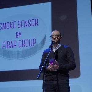 Nagrodę w kategorii RTV, nowoczesne technologie odebrał Łukasz Gdyk - Design Manager Fibar Group. Fot. Piotr Waniorek.