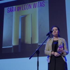 Nagrodę w kategorii drzwi i okna odebrała Paulina Ograbek, marka LeonWitas.  Fot. Piotr Waniorek.