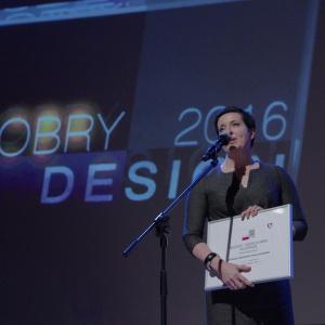Wyróżnienie w kategorii przestrzeń sypialni i garderoby - dyplom odebrała Anita Zdrojkowska, Fabryka Mebli Forte. Fot. Piotr Waniorek.