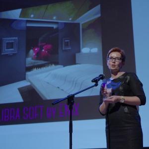 Nagrodę w kategorii przestrzeń sypialni i garderoby odebrała Agata Giętka, kierownik marketingu, firma Enix. Fot. Piotr Waniorek.
