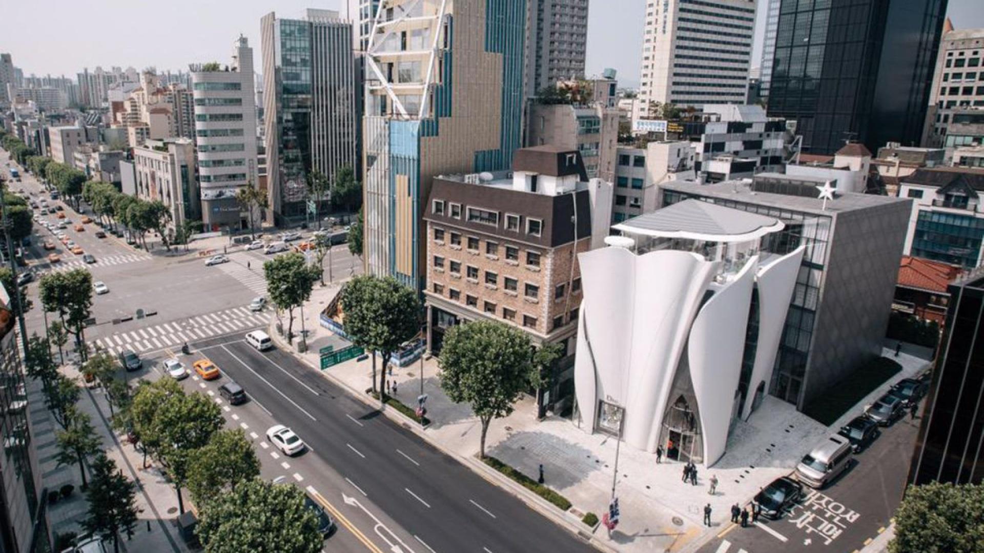 Butik Christiana Diora w Seulu. Fot. Nicolas Borel