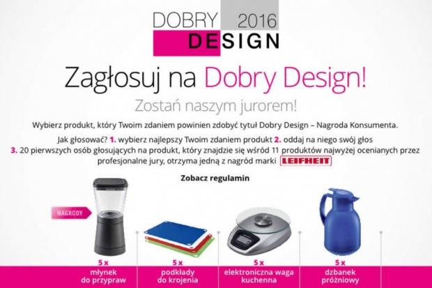 Nagrody za głosowanie konsumentów na Dobry Design 2016 przyznane. Zobacz listę zwycięzców