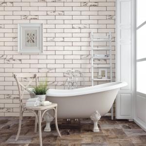 Stylizowane na cegły w stylu vintage - płytki ceramiczne Harmony firmy Peronda. Fot. Peronda.