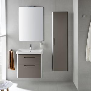Przed wilgocią chroni je m.in. warstwa lakieru - meble łazienkowe Dama-N firmy Roca. Fot. Roca.