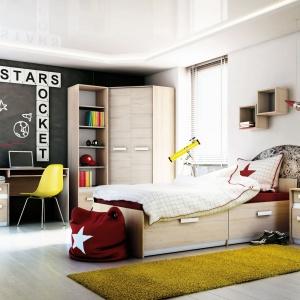 Łóżko Best posiada dwie pojemne szuflady. To propozycja nowoczesnych mebli dedykowanych szczególnie dla dzieci w wieku od 5 do 16 lat. Fot. ML Meble.