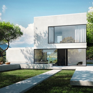 Panoramiczne przeszklenia są jednym z charakterystycznych elementów elewacji w nowoczesnej architekturze. Fot. Schüco.