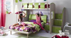 Dzieci uwielbiają łóżka piętrowe, bowiem to nie tylko wygodne miejsce do spania, ale wspaniałe pole do zabawy.