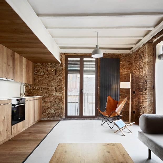 Przytulne wnętrze: apartamenty w rustykalnym stylu