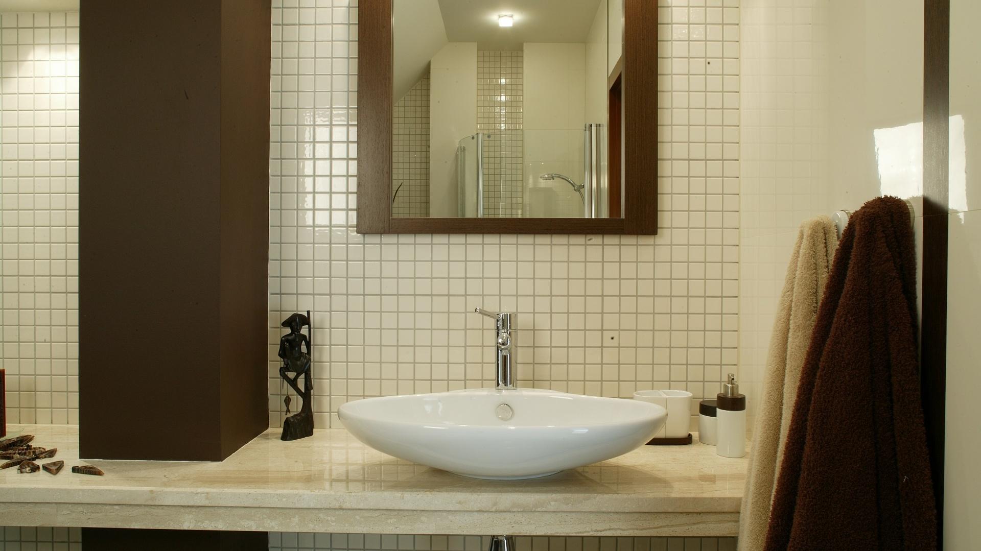 Mała łazienka Pomysły Na Blaty Z Kamienia