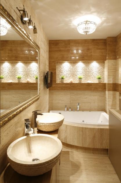Beżowa łazienka z drobnymi...  Beżowe łazienki - pomysły do małych wnętrz  Strona: 4
