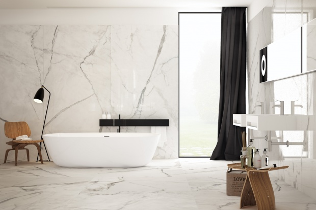 Białe płytki. 15 pięknych kolekcji do łazienek