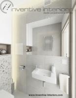 Toaleta w jasnej szarości