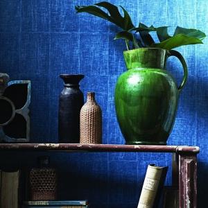 Tapety Jim Thompson. Kolekcja Pagoda and Palms wzór Jean.  Fot. Dekorian.