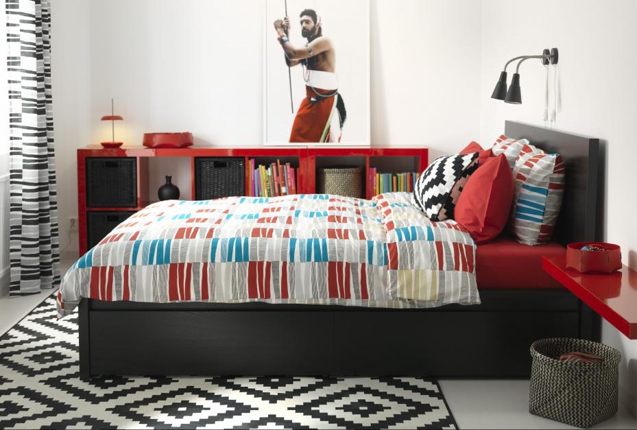 Łóżko Malm marki IKEA...  Łóżko w sypialni. 10 modeli z praktycznymi schowkami  Strona: 7