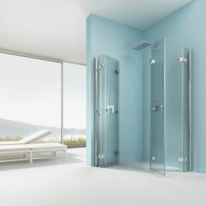 Możliwość zainstalowania listwy progowej – kabina prysznicowa składana  Artweger 360. Fot. Artweger.