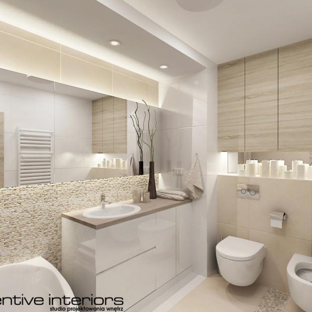 Projektant przedstawia pomysł na aranżcje łazienki