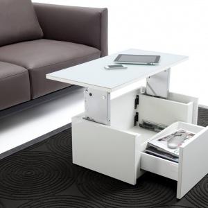 Wielofunkcyjny stolik wyposażony w mechanizmy  marki Hafele. Fot. Hafele.
