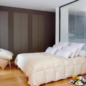 Ściana za łóżkiem wykończona przestrzennym obrazem to dobry sposób na nadanie wnętrzu dodatkowej przestrzeni. Fot. Comptoir des Industries.