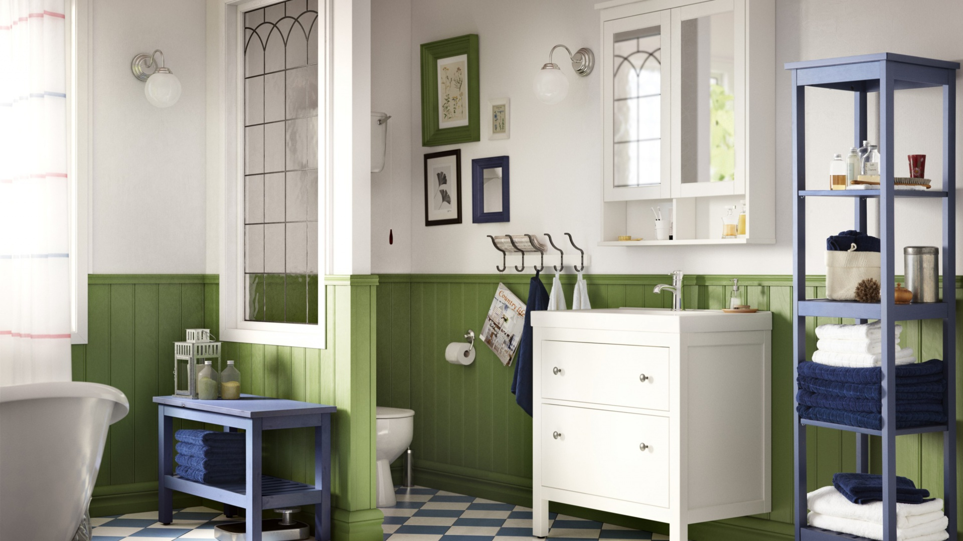 Modna łazienka 12 Pomysłów Na Błękitne Szafki