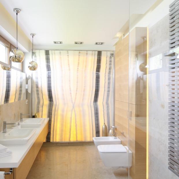 Łazienka przy sypialni – gotowy projekt wnetrza