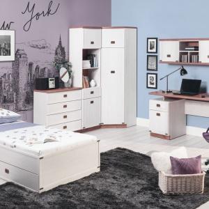 Eleganckie meble z serii Magic są bardzo wygodne. Łóżko wyposażone jest w szufladę na pościel, co znacznie ułatwi jej przechowywanie. Fot. Bog Fran.