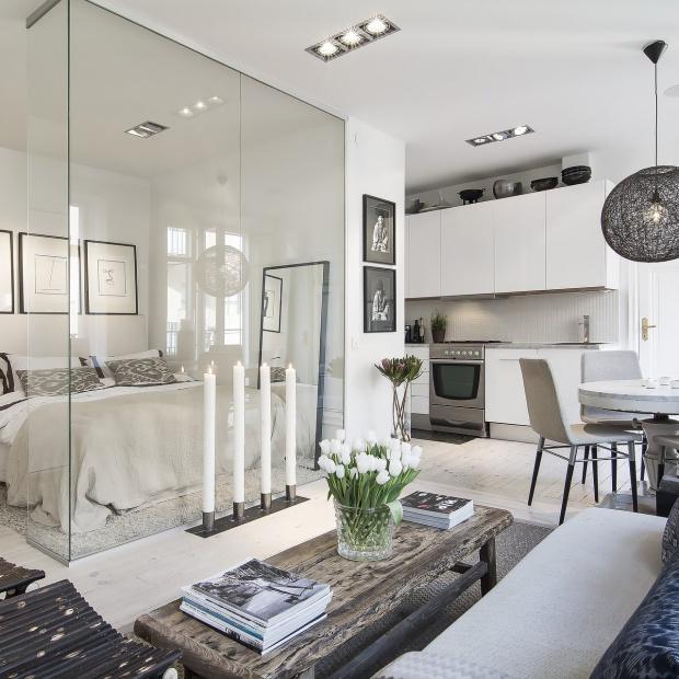 Pomysłowo urządzone małe mieszkanie