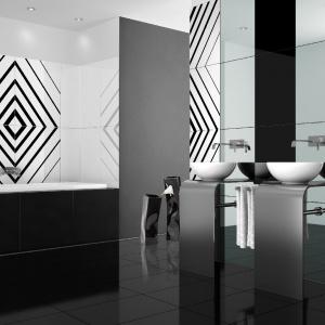 Ze wzorem 3D dającym efekt głębi i dynammiki - płytki ceramiczne Opp! Lines marki Ceramstic. Fot. Ceramstic.