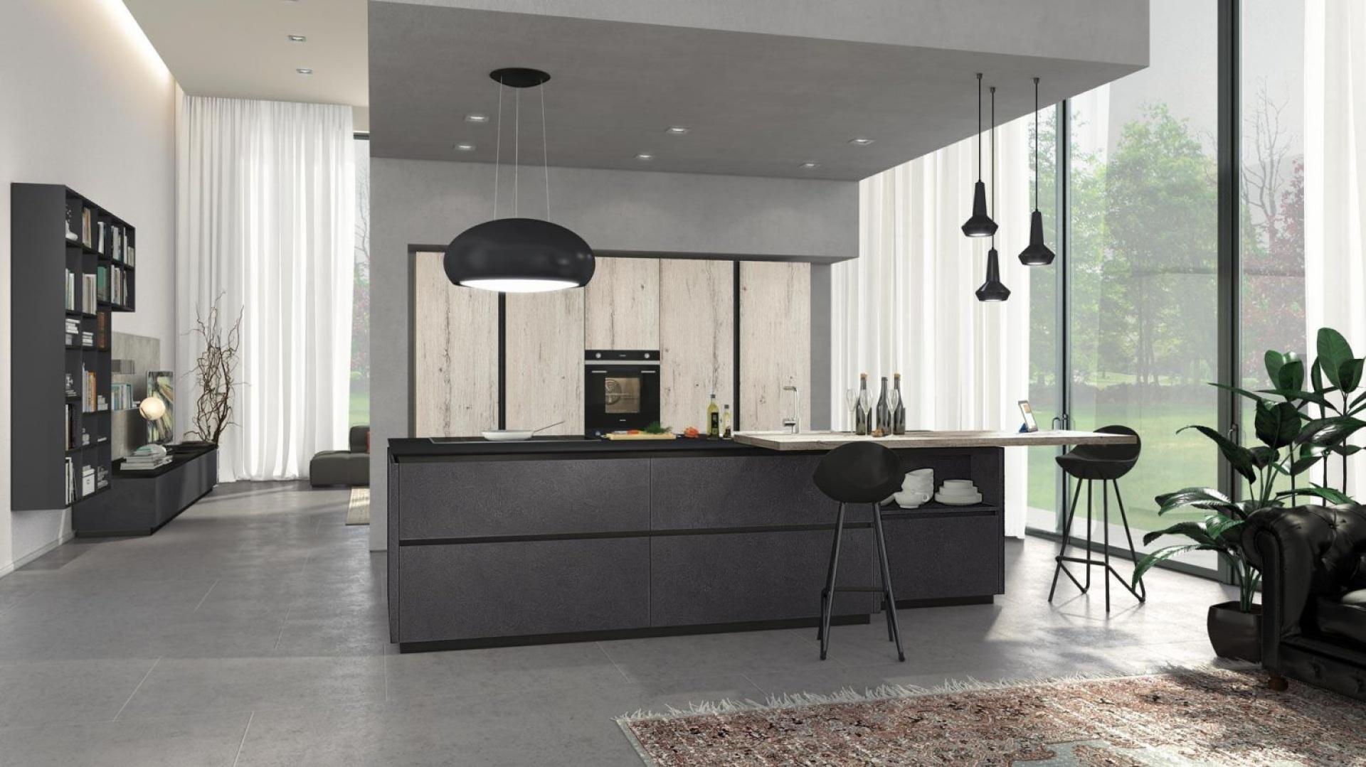 Fronty wysokiej zabudowy modna kuchnia postaw na drewno i ciemne kolory strona 6 - Cucine lube prezzi 2016 ...